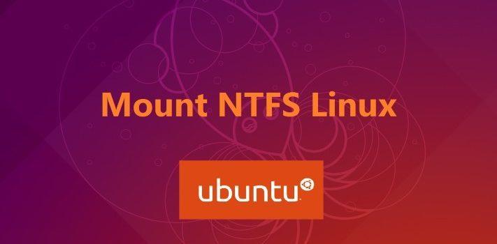 Mount ntfs Linux